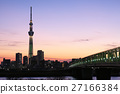 skytree tower, champagne skytree, evening scene 27166384