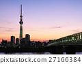 东京晴空塔 香槟天空树 晚景 27166384