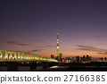 skytree tower, champagne skytree, evening scene 27166385