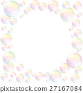 Soap Bubbles Frame Background White 27167084