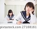 女学生形象 27168161