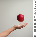 apple, hand, float 27169557
