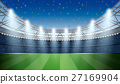 Soccer Stadium with spot light and confetti 27169904