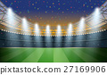 Soccer Stadium with spot light and confetti 27169906