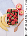 Set of fruits with strawberry, apple, and banana  27170498