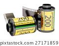 Camera Film Rolls, 3D rendering 27171859