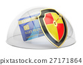 Credit card with security shield and glass dome 27171864