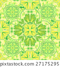 Colorful, glaze seamless pattern of mandalas 27175295