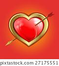 heart pierced by an arrow 27175551