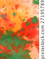 Warm abstract background red, yellow, orange ink 27195789