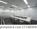 백색 모노크롬의 상쾌한 색조의 대여 회의실 27196908