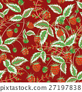 Colored raspberries seamless pattern. Seamless 27197838