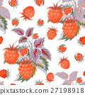 raspberry, pattern, vector 27198918