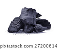 charcoal isolated on white background 27200614