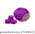 Purple Sweet Potatoes on White background 27200635