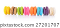 colourful french macaroons or macaron  27201707