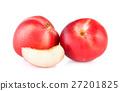 Peach on white background 27201825