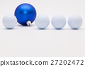 Golf balls and blue  Christmas decoration 27202472