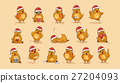 Illustrations isolated Emoji character cartoon Hen 27204093