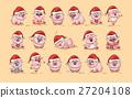 Illustrations isolated Emoji character cartoon Pig 27204108
