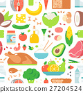 Food seamless pattern vector. 27204524