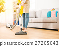 Woman use vacuum cleaner to cleaning 27205043