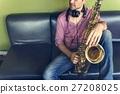 Saxophone Symphony Musician Jazz Instrument Concept 27208025