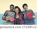 Table Tennis Ping-Pong Friends Sport Concept 27208512