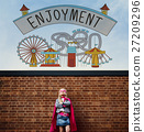Enjoyment Entertainment Amusement Park Concept 27209296