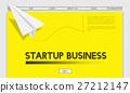 Paper Rocket Startup Business Concept 27212147
