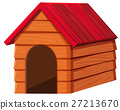 Doghouse with red roof 27213670