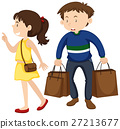 Girl and boy shopping together 27213677