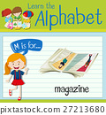 Flashcard letter M is for magazine 27213680