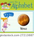 Flashcard letter V is for Venus 27213687