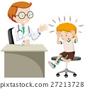 Little boy with headache visiting doctor 27213728