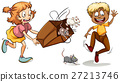 Little girl with bag full of mouse 27213746