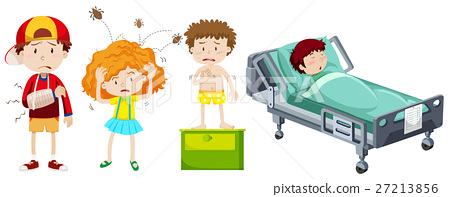 Children being sick from different disease 27213856