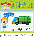 Flashcard letter G is for garbage truck 27213858