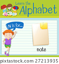 Flashcard letter N is for note 27213935