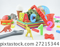 Plastic toys on white, Education concept 27215344