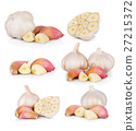 Garlic isolated on white background 27215372