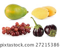 fruit and vegetable on white background 27215386