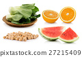 fruit and vegetable on white background 27215409
