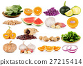 fruit and vegetable on white background 27215414