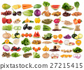 fruit and vegetable on white background 27215415