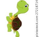Cute cartoon turtle 27218714