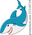 illustraion of cute Shark cartoon 27218719