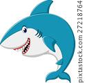 illustraion of cute Shark cartoon 27218764