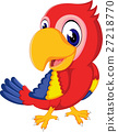Cartoon cute parrot 27218770