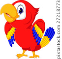 Cartoon cute parrot 27218773